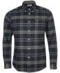 Men's Barbour Betsom Tailored Shirt - Grey Marl Check