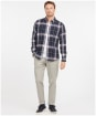 Men's Barbour Atholl Tailored Shirt - Navy Check