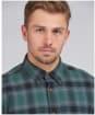 Men's Barbour International Steve McQueen Joshua Shirt - DEEP GREEN CHK