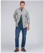 Men's Barbour International Steve McQueen Java Shirt - Whisper White Check