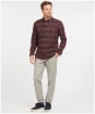 Men's Barbour Malton Tailored Shirt - WINTER RED CHK