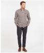 Men's Barbour Alderton Tailored Shirt - Grey Marl Check