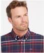 Men's Barbour Portdown Tailored Shirt - Navy Check