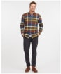 Men's Barbour Carlton Tailored Shirt - Olive Check