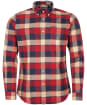 Men's Barbour Valley Tailored Shirt - Rich Red Check