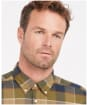 Men's Barbour Valley Tailored Shirt - Stone Check