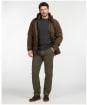 Men's Barbour Neuston Moleskin Trousers - Dark Olive