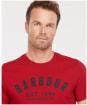 Men's Barbour Ridge Logo Tee - Crimson