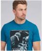 Men's Barbour International Steve McQueen Mechanic Steve Tee - Legion Blue