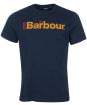Men's Barbour Offset Logo Graphic Tee - Navy