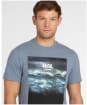 Men's Barbour Tidal Graphic Tee - Washed Blue