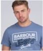 Men's Barbour International Legacy A7 Tee - Washed Blue