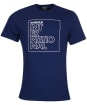 Men's Barbour International Outline Tee - Regal Blue