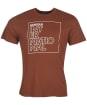 Men's Barbour International Outline Tee - Soil Brown