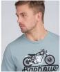 Men's Barbour International Reflex Tee - Grey Blue