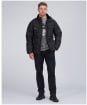 Men's Barbour International Transmission Hoxton Baffle Wax Jacket - Black
