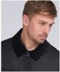 Men's Barbour International Accelerator Baffins Wax Jacket - Black