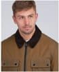Men's Barbour International Accelerator Baffins Wax Jacket - Sand