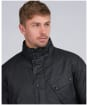 Men's Barbour International Ampton Race Wax Jacket - Black