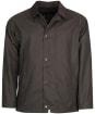 Men's Barbour Rigg Wax Jacket - Charcoal