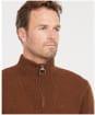 Men's Barbour Essential Wool Half Zip Sweater - Sandstone