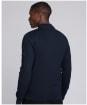 Men's Barbour International Baffle Zip Through Knit - International Navy