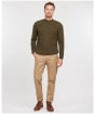 Men's Barbour Sid Crew Sweater - Olive Marl