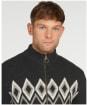 Men's Barbour Egdon Knitted Zip Thru Knit - Charcoal Marl