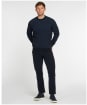 Men's Barbour Duffle Knitted Crew Sweater - Navy