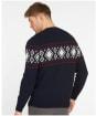 Men's Barbour Essential Diamond Knit Crew - Navy