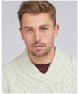 Men's Barbour International Chase Cable Knit Sweater - Ecru