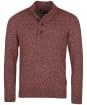 Men's Barbour Sid Half Zip Knit - Crimson Marl