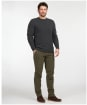 Men's Barbour Essential Diamond Quilted Crew - Charcoal