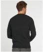 Men's Barbour Gallot Knitted Crew Sweater - Charcoal Marl