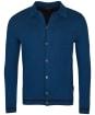 Men's Barbour Aleck Knitted Button Thru - Dark Petrol