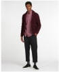 Men's Barbour Brodric Knitted Button Shawl - Winter Red