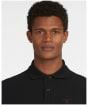 Men's Barbour Tartan Pique Polo Shirt - BLACK/WINTER