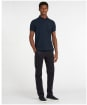 Men's Barbour Tartan Pique Polo Shirt - NAVY/MIDNIGHT