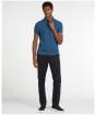 Men's Barbour Tartan Pique Polo Shirt - DK DENIM/MIDNGT