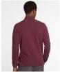 Men's Barbour L/S Sports Polo Shirt - MERLOT/WINT RED
