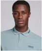 Men's Barbour International Essential Tipped Polo Shirt - Grey Blue
