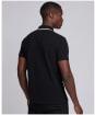 Men's Barbour International Block Stripe Polo Shirt - New Black