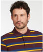 Men's Barbour Essential Winter Stripe Polo Shirt - Merlot