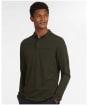 Men's Barbour Essential L/S Pocket Polo Shirt - Olive