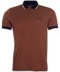 Men's Barbour International Accelerator Contrast Pique Polo Shirt - Soil Brown