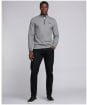 Men's Barbour International Tipped Quarter Zip Sports Polo - Anthracite Marl