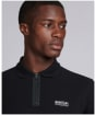 Men's Barbour International Transmission Zip Polo Shirt - Black