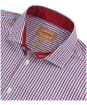 Men's Schoffel Hebden Tailored Shirt - SEA BLUE/CHILLI