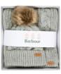 Women's Barbour Penshaw Beanie & Scarf Set - Grey