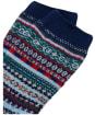 Women's Joules Lucille Fairisle Boot Socks - Navy Fairisle